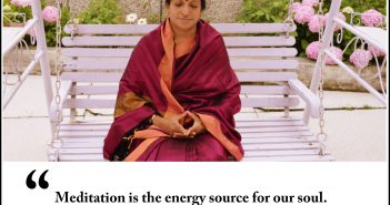 Meditation is the energy source for our soul Aathmanandamayi