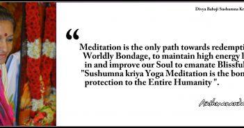 Meditation is the only path towards redemption from Worldly Bondage- English - Aathmanandamayi